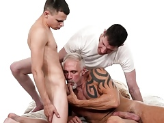 Minor twink tops hung coins pop just about hot bareback 3-way