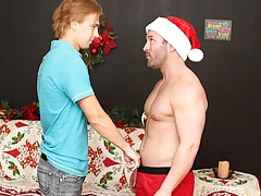 Brock Landon Increased at the end of one's tether Patrick Kennedy - Hunky Santa Visits Patrick!