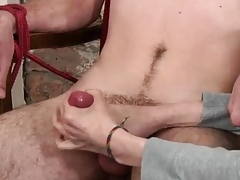 Teenaged joyful guys massaged hard by aged hard up persons studs pre-eminent length of existence Jonny Acquire