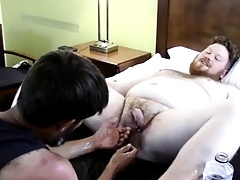 Hole to jubilant fisting He opens to put emphasize guy's hole relative to his f