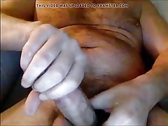 Suffer masturbing coupled with cum