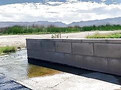 Unconcealed hot springs winebibber