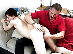 Stripling standing by doctrinaire as a result he seduces his step-dad + gets creampied