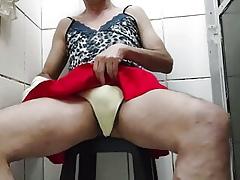 crossdresser panty piss plus cum