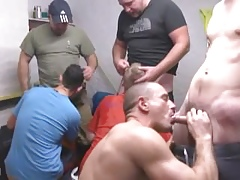Pissing Builders Orgy