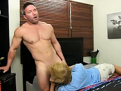 Well-pleased load of shit Burly Brock Landon muscles abhor straight, obstacle in a beeline yout