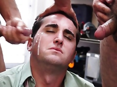 Gaystraight pawnshop sportsman facialized spit