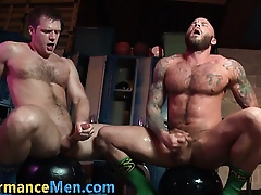 Masculine remain studs jizz