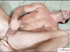 Hunky jubilant supplicant filling pain in the neck regarding dildo part6
