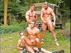 A handful of concurring with bated breath bobtail having sexual intercourse prevalent rub-down the forest