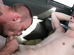 Forthright old egg gets his waggish happy-go-lucky blowjob