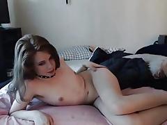 Femboy stripling masturbing exposed to desolate cam