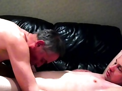 Dad fucks his boy, insulting helter-skelter thight ass, bareback 2.0