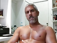Matchless masturbing together with cumshoot 14